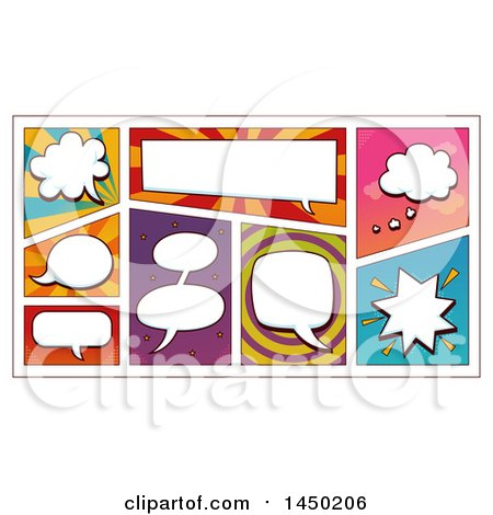 Clipart Graphic of Comic Design Element Speech Bubbles - Royalty Free Vector Illustration by BNP Design Studio
