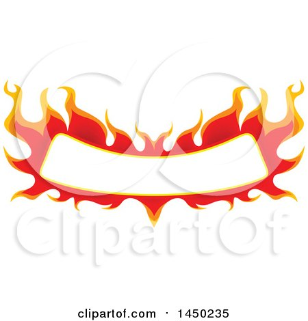 Clipart Graphic of a Fiery Hot Flaming Flame Banner Design Element - Royalty Free Vector Illustration by dero