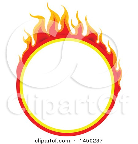 Clipart Graphic of a Round Fiery Hot Flaming Flame Design Element - Royalty Free Vector Illustration by dero