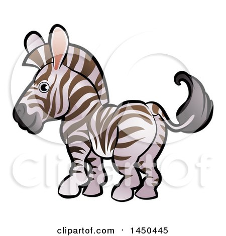 Clipart Graphic of a Cartoon Zebra - Royalty Free Vector Illustration by AtStockIllustration