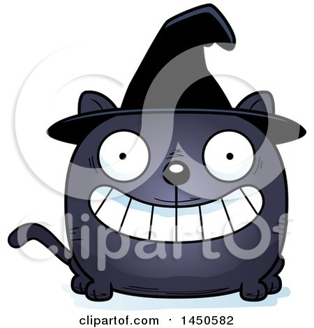 Clipart Graphic of a Cartoon Grinning Witch Cat Character Mascot - Royalty Free Vector Illustration by Cory Thoman