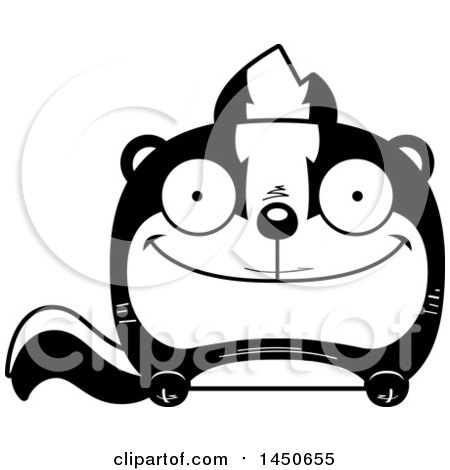 Clipart Graphic of a Cartoon Happy Skunk Character Mascot - Royalty Free Vector Illustration by Cory Thoman