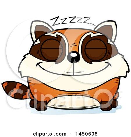 Clipart Graphic of a Cartoon Sleeping Red Panda Character Mascot - Royalty Free Vector Illustration by Cory Thoman