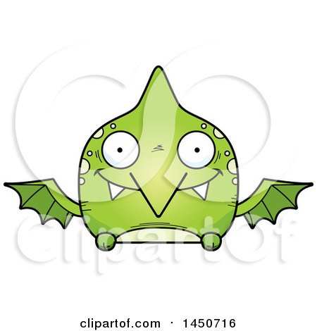 Clipart Graphic of a Cartoon Happy Pterodactyl Character Mascot - Royalty Free Vector Illustration by Cory Thoman
