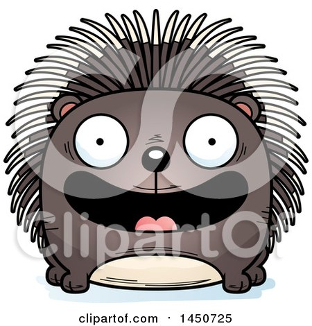 Clipart Graphic of a Cartoon Smiling Porcupine Character Mascot - Royalty Free Vector Illustration by Cory Thoman