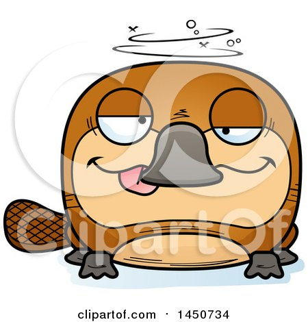 Clipart Graphic of a Cartoon Drunk Platypus Character Mascot - Royalty Free Vector Illustration by Cory Thoman