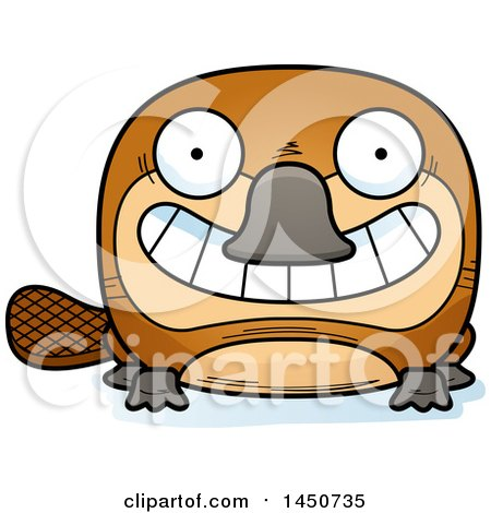 Clipart Graphic of a Cartoon Grinning Platypus Character Mascot - Royalty Free Vector Illustration by Cory Thoman