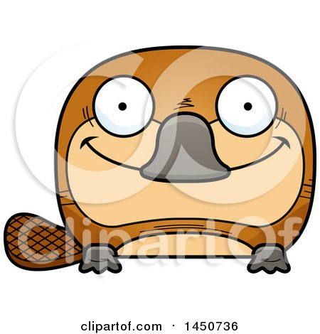 Clipart Graphic of a Cartoon Happy Platypus Character Mascot - Royalty Free Vector Illustration by Cory Thoman