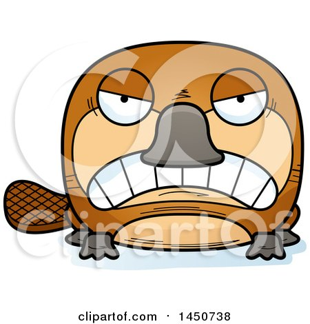 Clipart Graphic of a Cartoon Mad Platypus Character Mascot - Royalty Free Vector Illustration by Cory Thoman