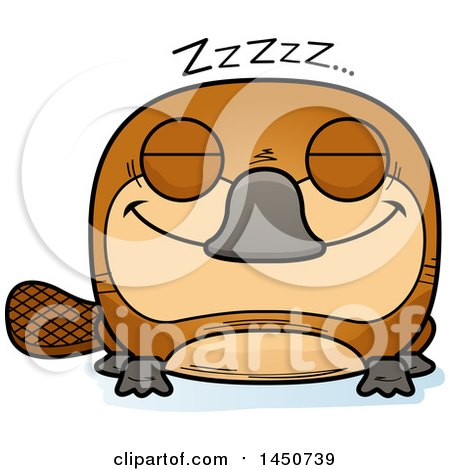 Clipart Graphic of a Cartoon Sleeping Platypus Character Mascot - Royalty Free Vector Illustration by Cory Thoman