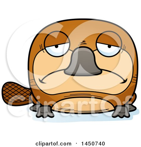 Clipart Graphic of a Cartoon Sad Platypus Character Mascot - Royalty Free Vector Illustration by Cory Thoman