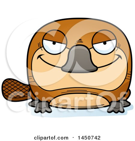 Clipart Graphic of a Cartoon Sly Platypus Character Mascot - Royalty Free Vector Illustration by Cory Thoman