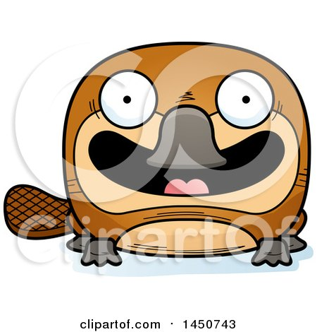 Clipart Graphic of a Cartoon Smiling Platypus Character Mascot - Royalty Free Vector Illustration by Cory Thoman
