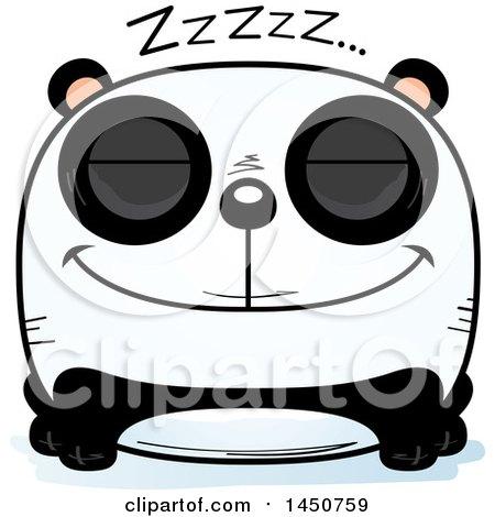Clipart Graphic of a Cartoon Sleeping Panda Character Mascot - Royalty Free Vector Illustration by Cory Thoman