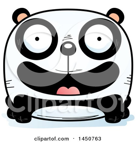 Clipart Graphic of a Cartoon Smiling Panda Character Mascot - Royalty Free Vector Illustration by Cory Thoman