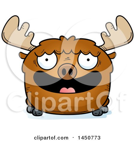 Clipart Graphic of a Cartoon Smiling Moose Character Mascot - Royalty Free Vector Illustration by Cory Thoman