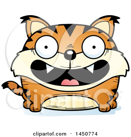 Clipart Graphic of a Cartoon Smiling Lynx Character Mascot - Royalty Free Vector Illustration by Cory Thoman