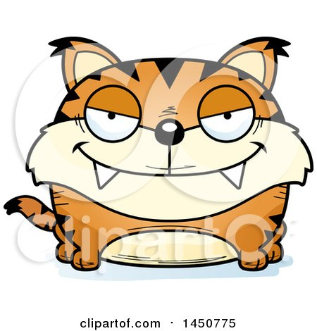 Clipart Graphic of a Cartoon Sly Lynx Character Mascot - Royalty Free Vector Illustration by Cory Thoman