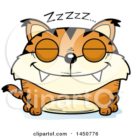 Clipart Graphic of a Cartoon Sleeping Lynx Character Mascot - Royalty Free Vector Illustration by Cory Thoman