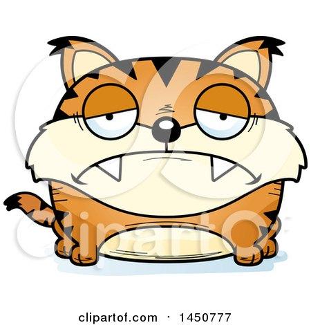 Clipart Graphic of a Cartoon Sad Lynx Character Mascot - Royalty Free Vector Illustration by Cory Thoman