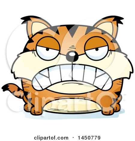 Clipart Graphic of a Cartoon Mad Lynx Character Mascot - Royalty Free Vector Illustration by Cory Thoman