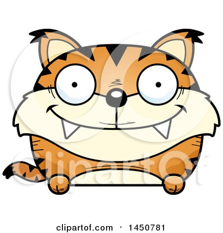 Clipart Graphic of a Cartoon Happy Lynx Character Mascot - Royalty Free Vector Illustration by Cory Thoman