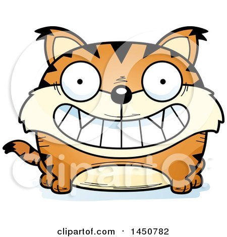 Clipart Graphic of a Cartoon Grinning Lynx Character Mascot - Royalty Free Vector Illustration by Cory Thoman
