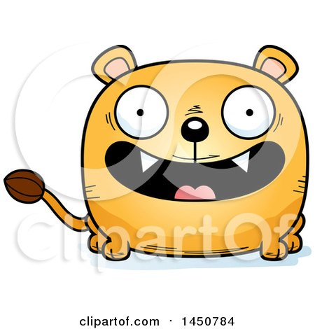 Clipart Graphic of a Cartoon Smiling Lioness Character Mascot - Royalty Free Vector Illustration by Cory Thoman
