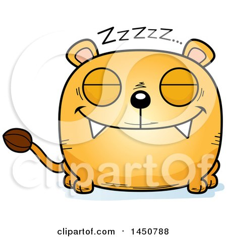 Clipart Graphic of a Cartoon Sleeping Lioness Character Mascot - Royalty Free Vector Illustration by Cory Thoman
