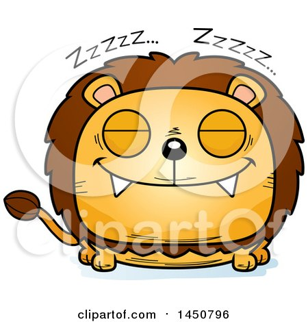 Clipart Graphic of a Cartoon Sleeping Male Lion Character Mascot - Royalty Free Vector Illustration by Cory Thoman