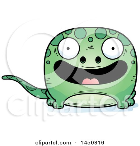 Clipart Graphic of a Cartoon Smiling Gecko Character Mascot - Royalty Free Vector Illustration by Cory Thoman