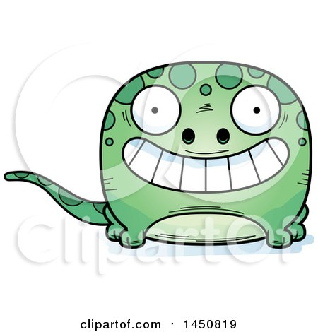 Clipart Graphic of a Cartoon Grinning Gecko Character Mascot - Royalty Free Vector Illustration by Cory Thoman
