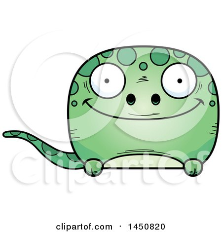 Clipart Graphic of a Cartoon Happy Gecko Character Mascot - Royalty Free Vector Illustration by Cory Thoman