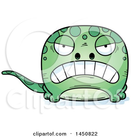 Clipart Graphic of a Cartoon Mad Gecko Character Mascot - Royalty Free Vector Illustration by Cory Thoman