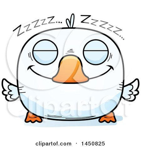 Clipart Graphic of a Cartoon Sleeping Duck Character Mascot - Royalty Free Vector Illustration by Cory Thoman