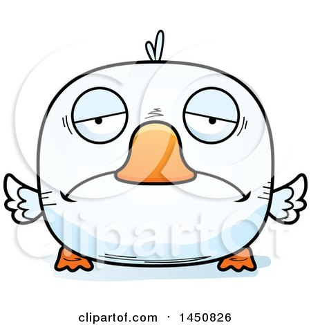 Clipart Graphic of a Cartoon Sad Duck Character Mascot - Royalty Free Vector Illustration by Cory Thoman