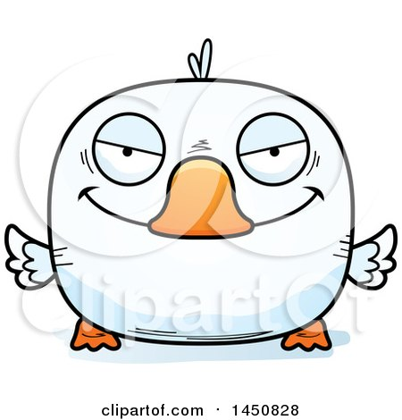 Clipart Graphic of a Cartoon Sly Duck Character Mascot - Royalty Free Vector Illustration by Cory Thoman