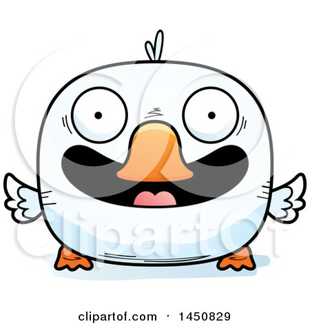 Clipart Graphic of a Cartoon Smiling Duck Character Mascot - Royalty Free Vector Illustration by Cory Thoman