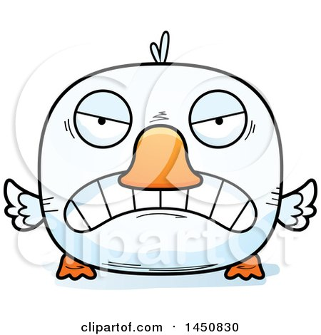 Clipart Graphic of a Cartoon Mad Duck Character Mascot - Royalty Free Vector Illustration by Cory Thoman