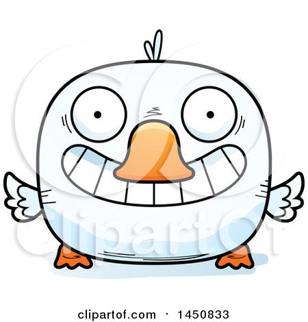 Clipart Graphic of a Cartoon Grinning Duck Character Mascot - Royalty Free Vector Illustration by Cory Thoman