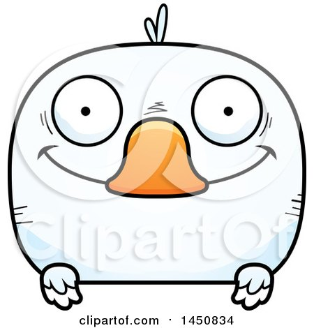 Clipart Graphic of a Cartoon Happy Duck Character Mascot - Royalty Free Vector Illustration by Cory Thoman