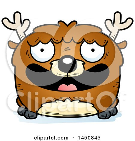 Clipart Graphic of a Cartoon Smiling Deer Character Mascot - Royalty Free Vector Illustration by Cory Thoman