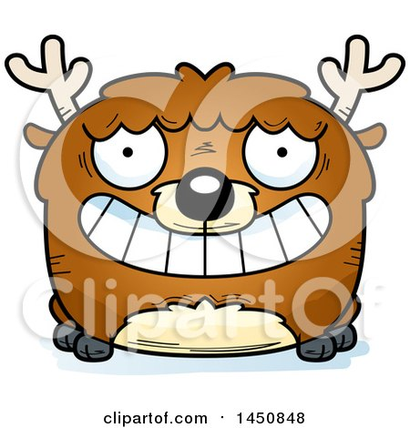 Clipart Graphic of a Cartoon Grinning Deer Character Mascot - Royalty Free Vector Illustration by Cory Thoman