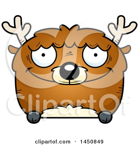 Clipart Graphic of a Cartoon Happy Deer Character Mascot - Royalty Free Vector Illustration by Cory Thoman