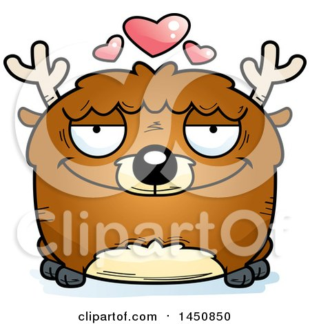 Clipart Graphic of a Cartoon Loving Deer Character Mascot - Royalty Free Vector Illustration by Cory Thoman