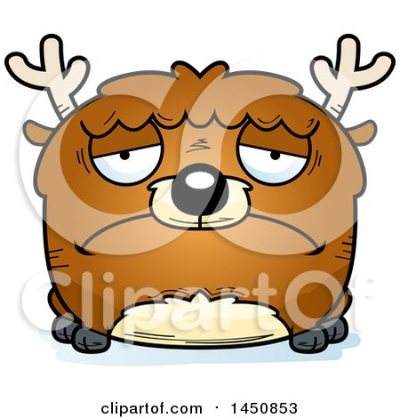 Clipart Graphic of a Cartoon Sad Deer Character Mascot - Royalty Free Vector Illustration by Cory Thoman
