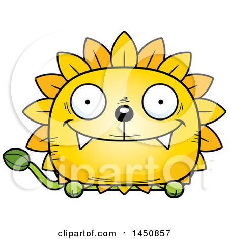 Clipart Graphic of a Cartoon Happy Dandelion Character Mascot - Royalty Free Vector Illustration by Cory Thoman