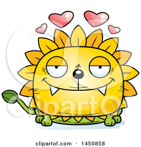 Clipart Graphic of a Cartoon Loving Dandelion Character Mascot - Royalty Free Vector Illustration by Cory Thoman