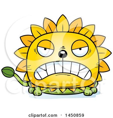 Cartoon Mad Dandelion Character Mascot Posters, Art Prints