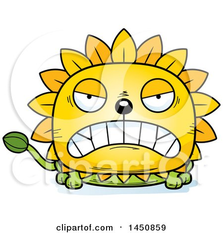 Clipart Graphic of a Cartoon Mad Dandelion Character Mascot - Royalty Free Vector Illustration by Cory Thoman